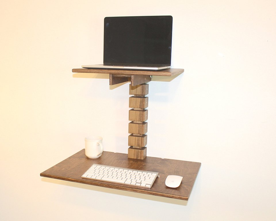 Wall-Mounted Standing Desk