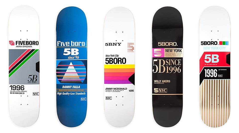 5BORO VHS Skateboard Decks