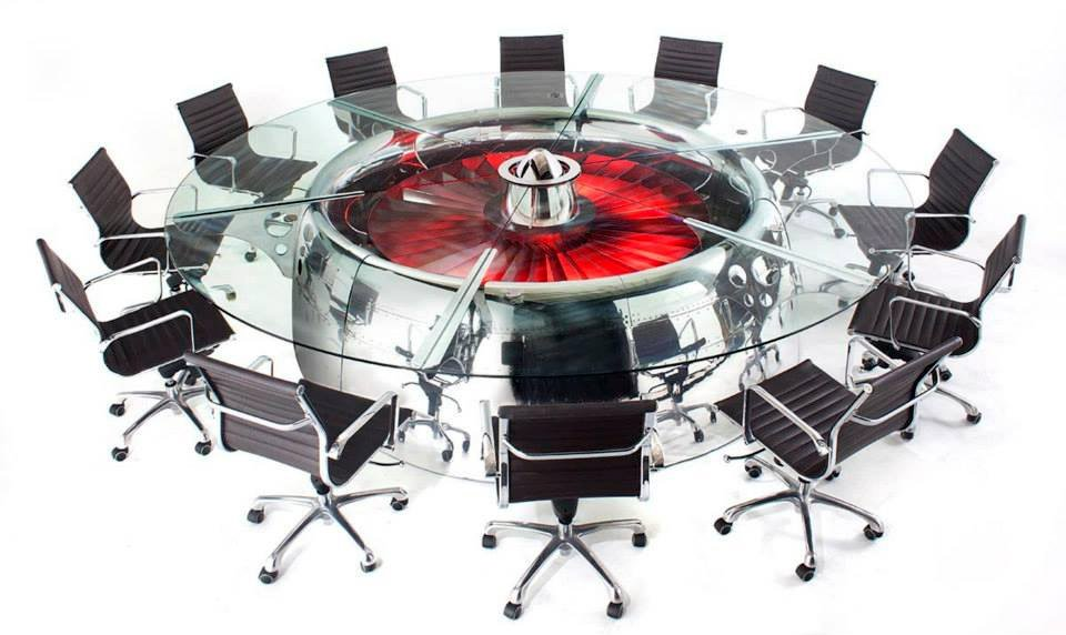 747 Jumbo Jet Conference Table