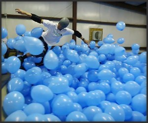 Skateboarding in 5001 Balloons