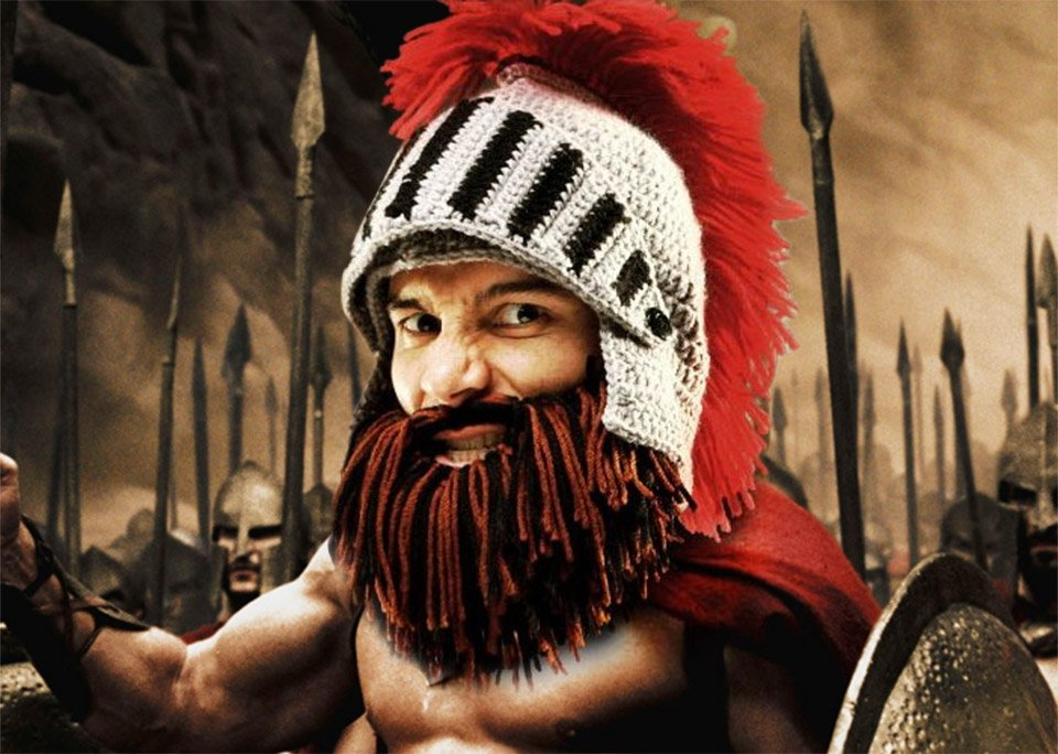 Barbarian Knight Beard Head
