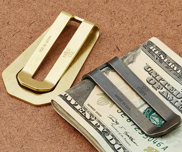 Solid Brass Money Clip