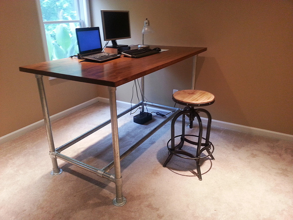 pipe desk frames pop out