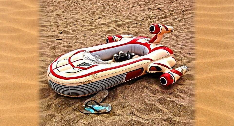 Landspeeder Inflatable Pool Float
