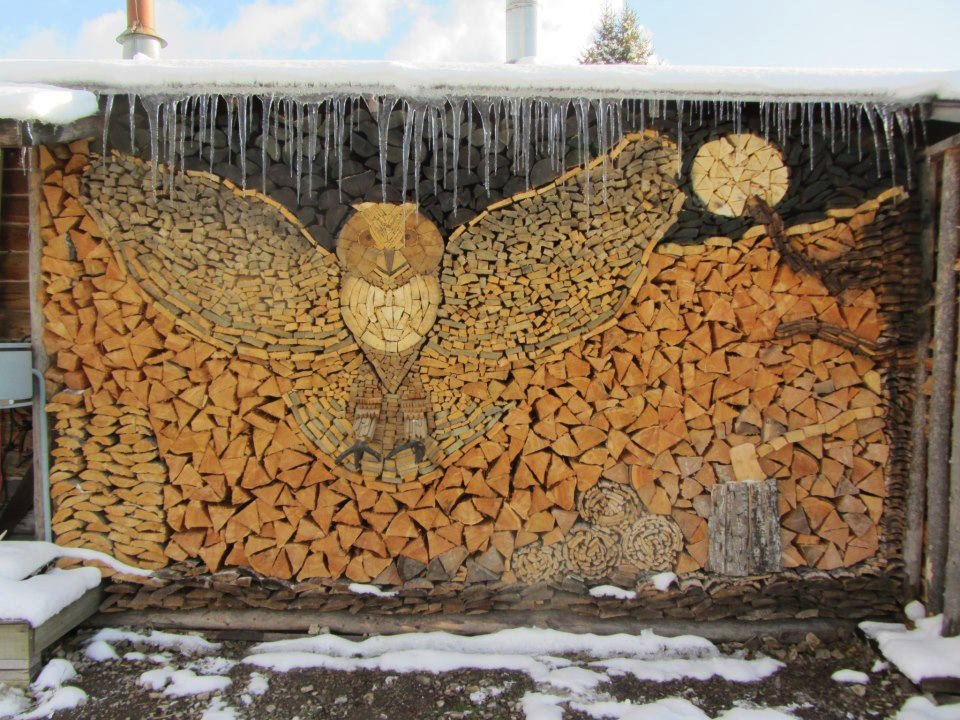 Stacked Firewood Art
