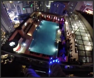 BASE Jump to Swimming Pool