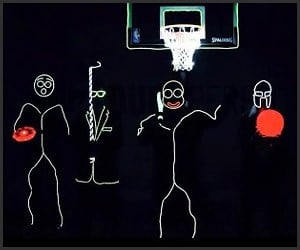 Glow-in-the-Dark Trick Shots