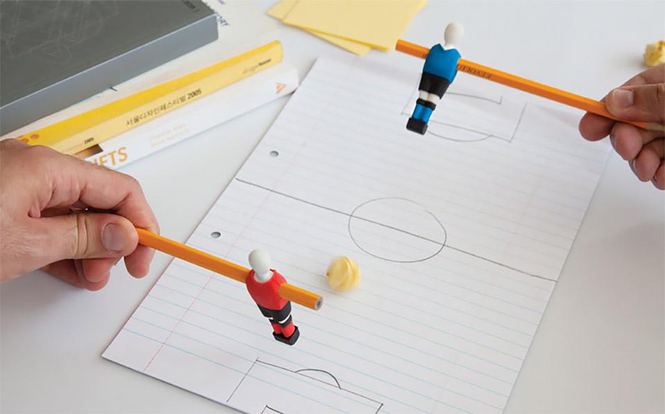 Penball Foosball Erasers