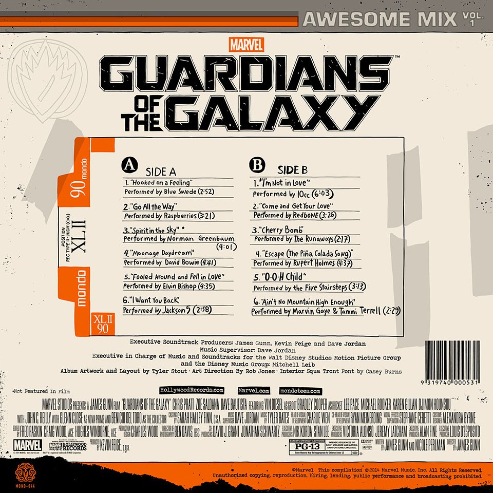 GotG Awesome Mix Vol. 1 Vinyl