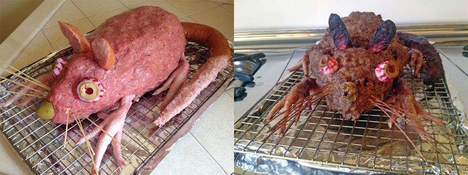 Halloween Meatloaf of Rat