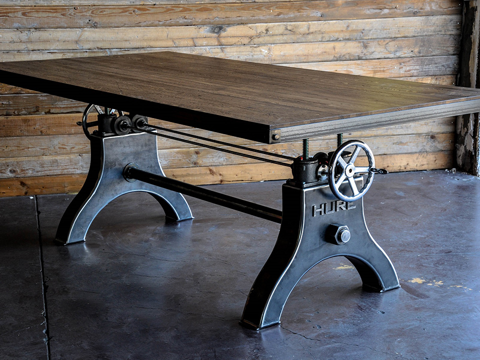 Hure tables the awesomer for Industrial crank table