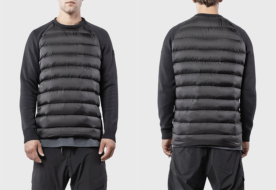 Combo Tech Knit Down Pullover