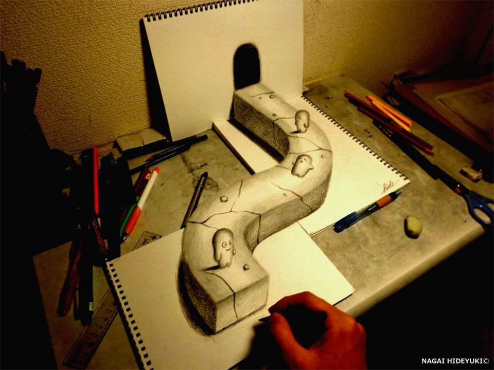 3D Illusion Sketches