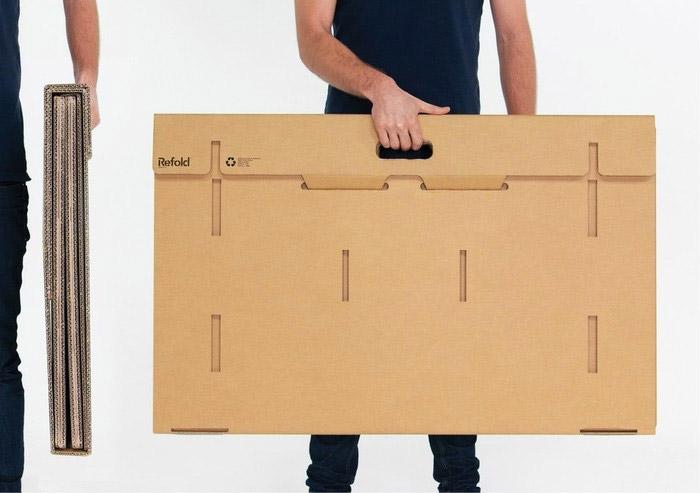 Refold Cardboard Standing Desk