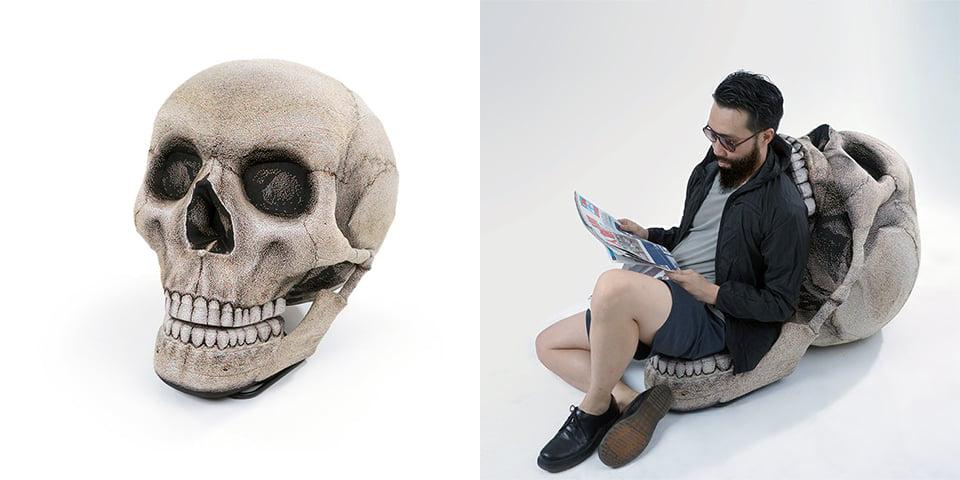 Skull Bean Bag