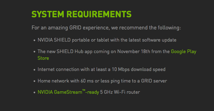 NVIDIA Grid Game Streaming