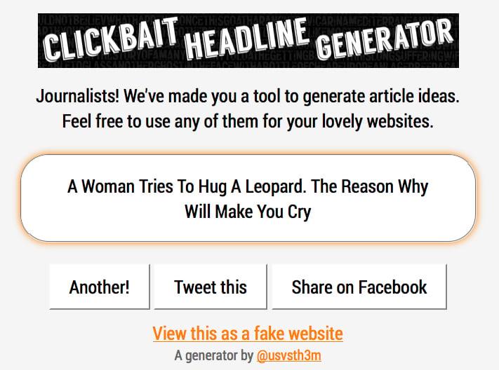 Clickbait Headline Generator
