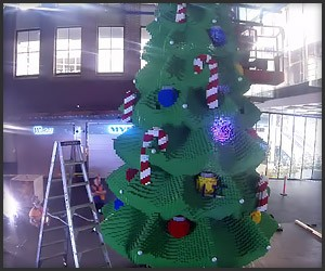Massive LEGO Christmas Tree
