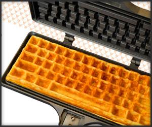 Own a Keyboard Waffle Iron