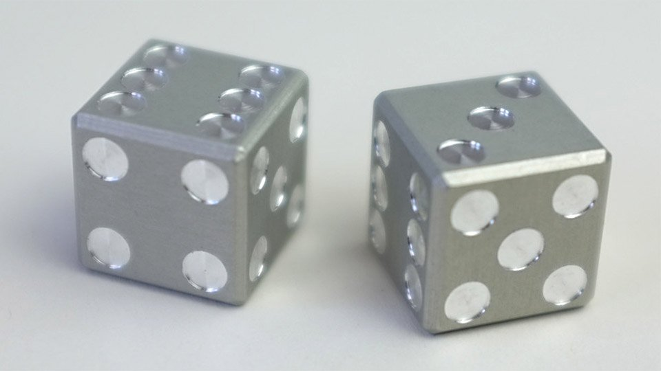 Machined Aluminum Dice