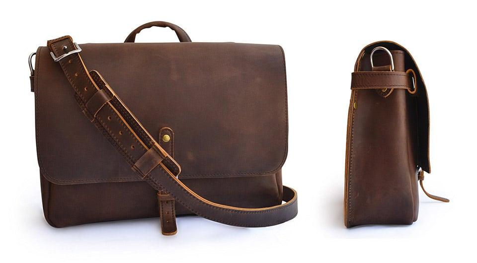Marlondo Leather Messenger Bag