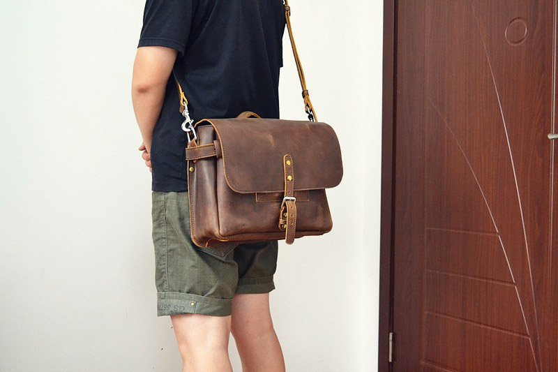 Marlondo Leather Messenger Bag