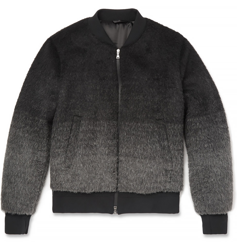 Dégradé Wool Bomber Jacket
