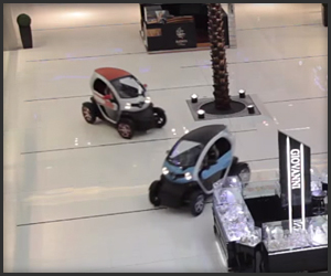 Renault Twizy at the Dubai Mall