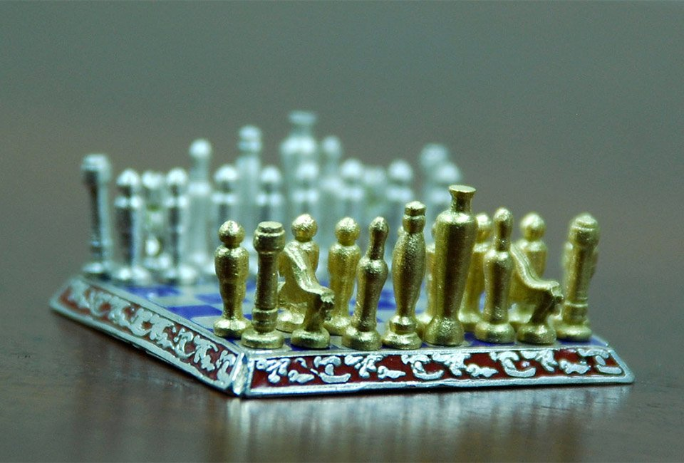 World's Smallest Chess Set
