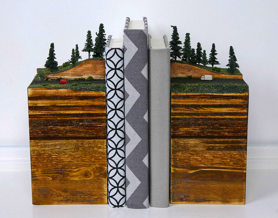 Layered Earth Bookends