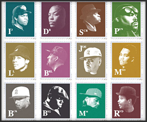 Golden Era Hip-Hop Stamps Poster