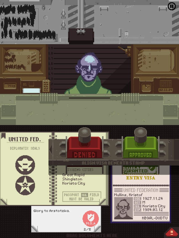 Papers, Please on iPad