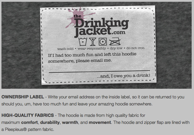 The Drinking Jacket