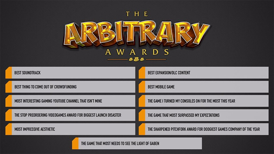 The Arbitrary Video Game Awards