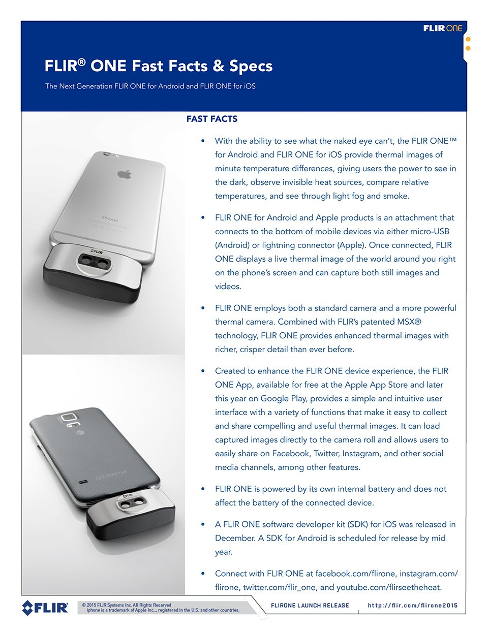 2015 FLIR One Thermal Camera