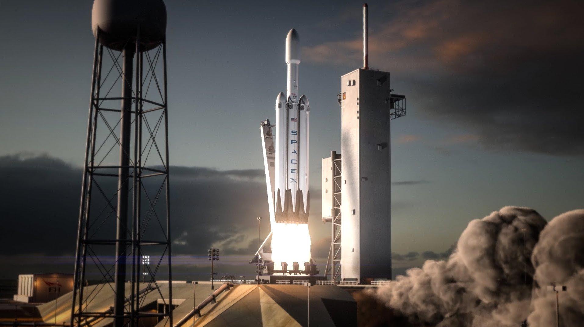 spacex falcon heavy rocket - HD1915×1072