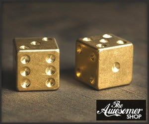 Brass Playing Dice