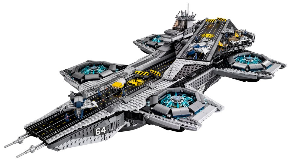 lego avengers shield helicarrier the awesomer