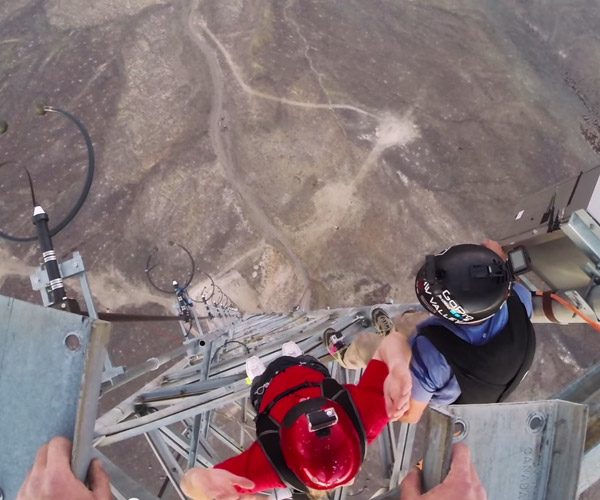 Radio Tower BASE Jump