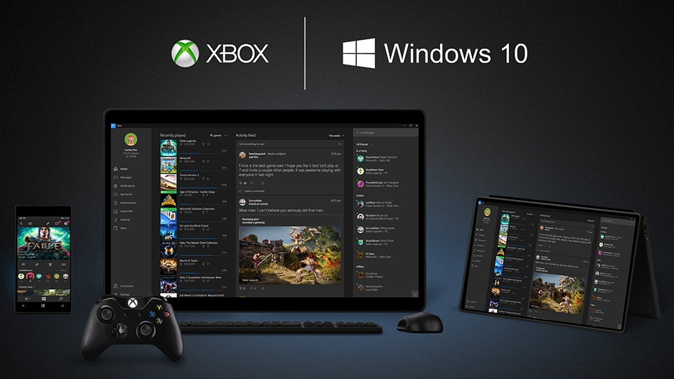 Xbox One on Windows 10