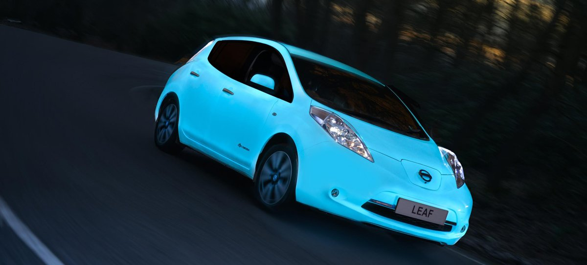 Nissan's Glow-in-the-Dark LEAF