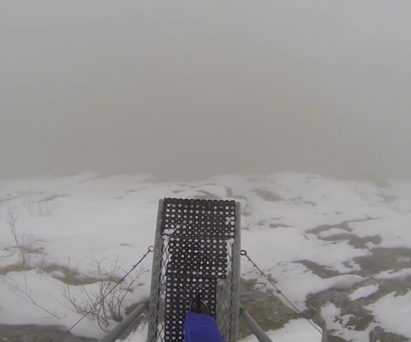 BASE Jump Through Fog