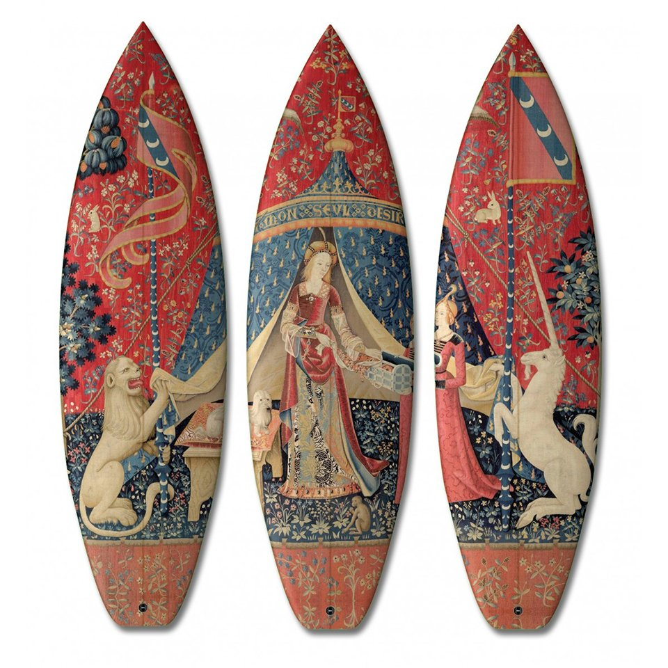 Surfboard & Skateboard Triptychs