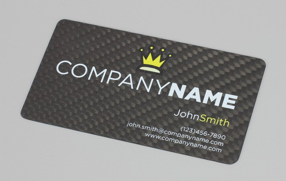 Carbon Fiber Business Cards - The Awesomer
