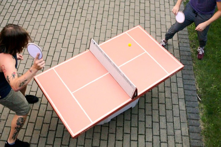 Cardboard Table Tennis Set