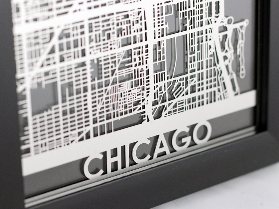 Laser-Cut City & State Maps