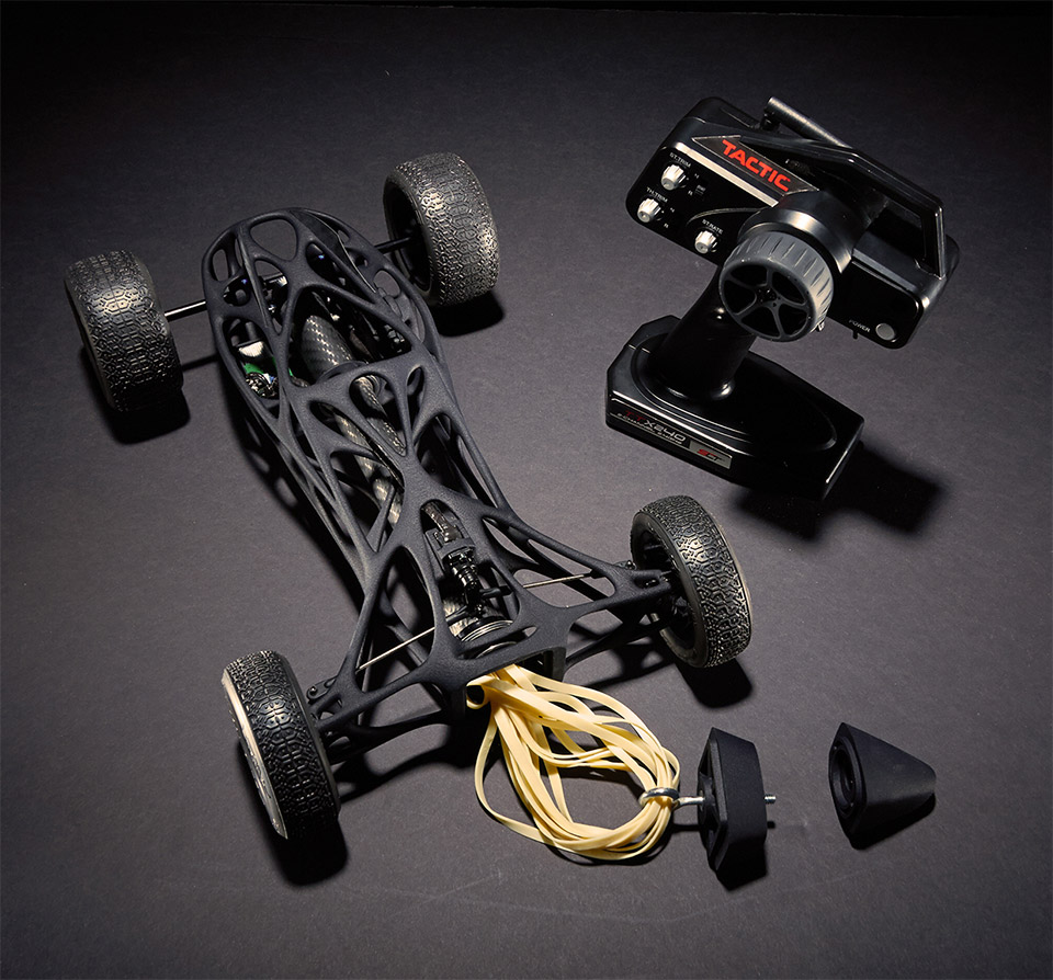 CIRIN Rubber Band R/C Race Car