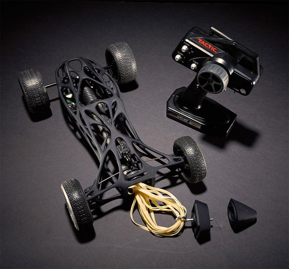 CIRIN Rubber Band R/C Race Car