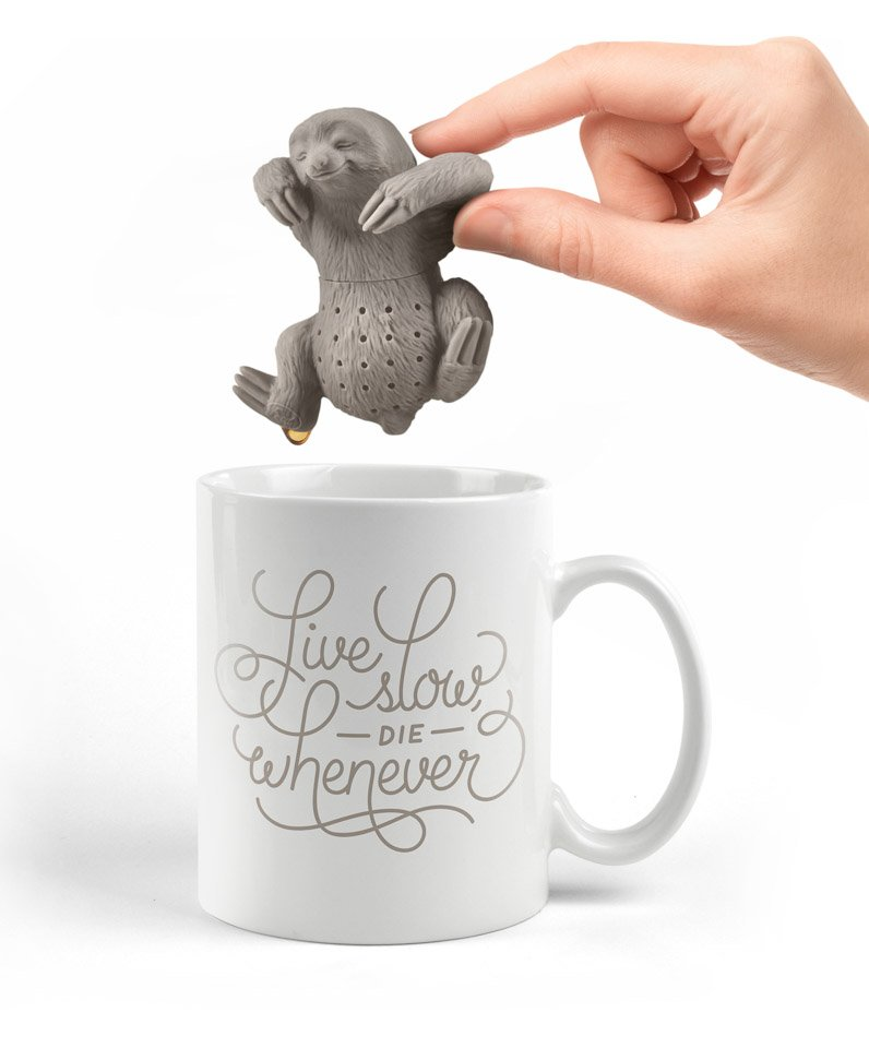 Slow Brew Sloth Tea Infuser The Awesomer