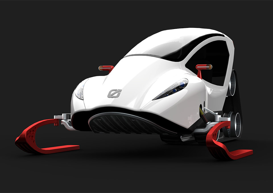 Snow Crawler Snowmobile Concept